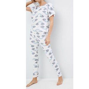 ASOS Rainbow Tee & Legging Print Pajamas Set